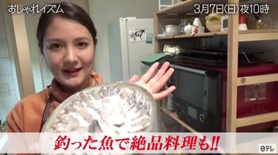 トリンドル瑠奈が作った太刀魚の刺身