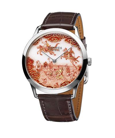 福島武山のデザインしたエルメスの時計