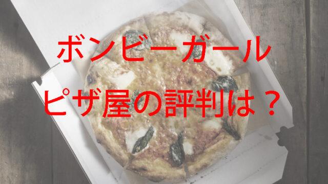 テイクアウト用のピザ